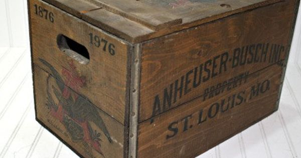 Love this vintage wooden crate. You could store blankets, games, and use