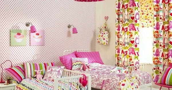 kinderzimmerw nde gestalten tapete sch nes muster farbige. Black Bedroom Furniture Sets. Home Design Ideas