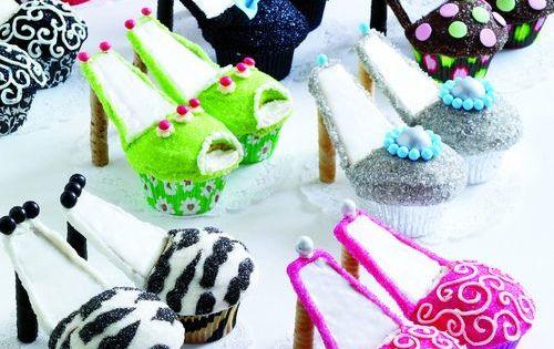 shoe party ideas | Cute shoe cupcakes | Party Ideas, Favors and