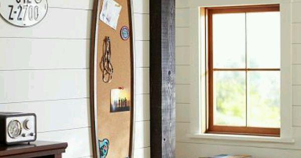 Pottery Barn Teen Surfboard Corkboard Fun Kids Room