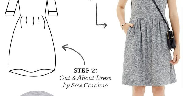 Knitting Freelance : Diy outfit everyday knit dress freelance graphic