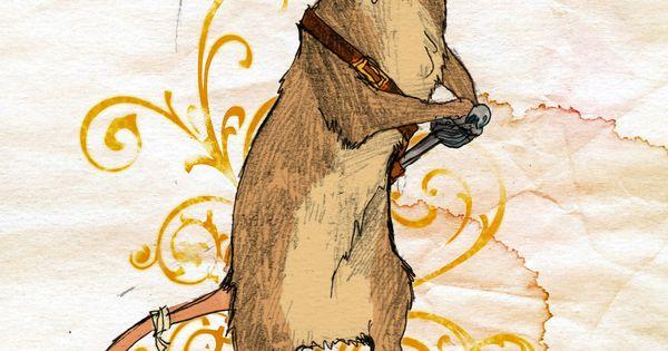 "Narnia nursery art. ""Brave as a Mouse"" [Reepicheep] by burgundythorns on deviantART."