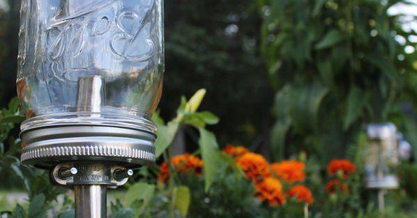 Eco Friendly Summer Nights Solar Powered Ball Mason Jar Outdoor Path Light
