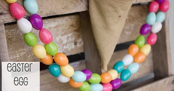 Easy Easter Egg Garland- more ideas for all of those pesky leftover