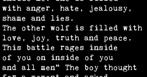 A wise old man was talking to a boy and | Quotes at Repinned.net