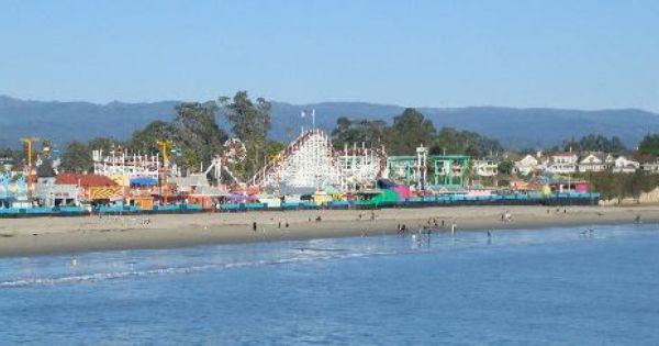 Santa Cruz Boardwalk Old Timey Carnival Fun Beach