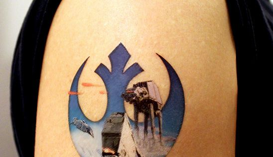 Rebel Alliance Star Wars Large Temporary Tattoo By