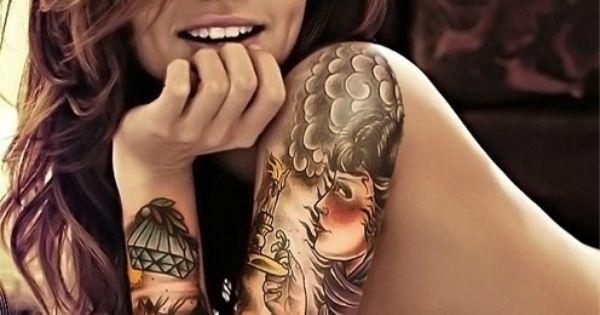 lady arm tattoos | Female Arm Sleeve Tattoos