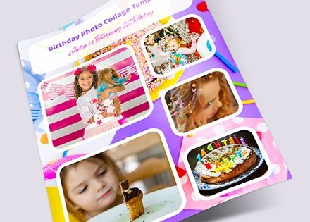 Free Birthday Photo Collage Template Photoshop Word Photo Collage Template Collage Template Birthday Photo Collage