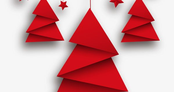 Vector Arbol De Navidad Origami Y Estrellas Rojas Arbol Clipart Tarjetas De Felicitacion Star Png Y Psd Para Descargar Gratis Pngtree Origami Christmas Tree Minimalist Christmas Card Christmas Origami