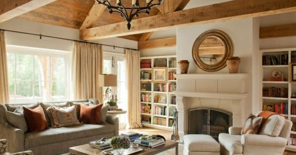 das wohnzimmer rustikal einrichten ist der landhausstil angesagt interieur pinterest. Black Bedroom Furniture Sets. Home Design Ideas