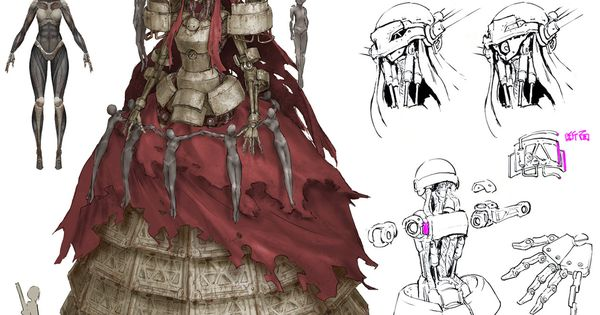 Character Design Nier Automata : Opera boss from nier automata concept arts pinterest