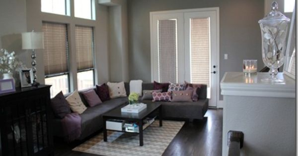 Can I Do A Gray Couch And Gray Walls Grey Walls Living Room Formal Living Rooms Blue Accent Walls