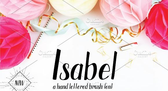 Isabel Brush Font – brush pen style with hand written character