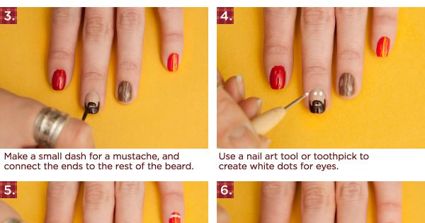 DIY A Jolly Lumberjack Manicure DIY Nails Art