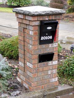 Brick Mailbox With Stone Cap Brick Mailbox Mailbox Design