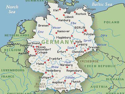 germany map google map of germany le tour d 39 europe pinterest frankfurt germany austria. Black Bedroom Furniture Sets. Home Design Ideas