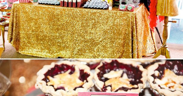 A Star is Born, baby shower, HWTM, glitzy sweets display sparkly vintage