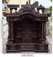 Code 99 Wooden Carved Teakwood Temple Mandir Wooden