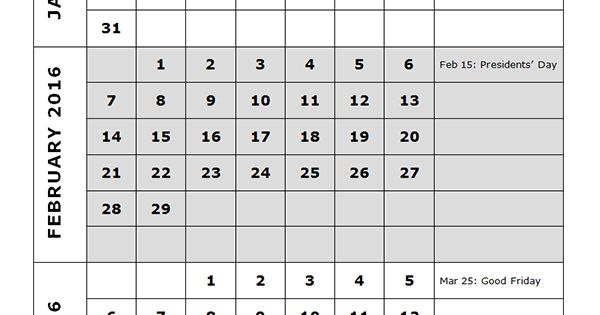 boy scout calendar template - 2016 quarterly calendar template 14p free printable