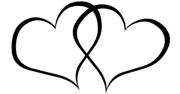 Black and White Heart Clip Art Free | wedding heart ...