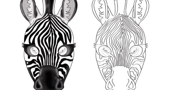 Printable Zebra Mask Coolest Free Printables Maski