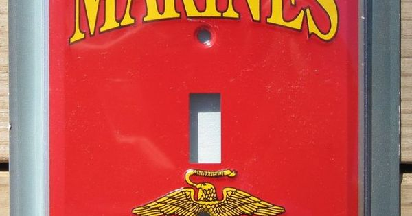 Us Marines Light Switch Plate Cover Metal Sign Garage Wall