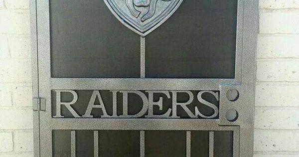 Raiders Screen Door Football Nfl Man Cave Decor My Man