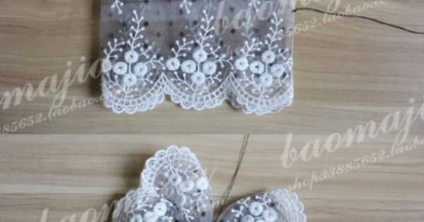 cute butterfly from lace for pin