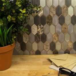 Citadel Ponderosa Tile Metal Mosaic Tiles Mosaic Tiles Tiles