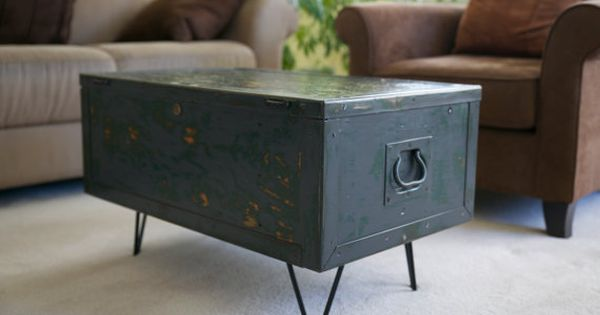 Small Coffee Table Restored Foot Locker On By