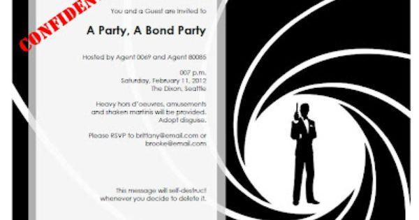 266 best images about James Bond – James Bond Party Invitations