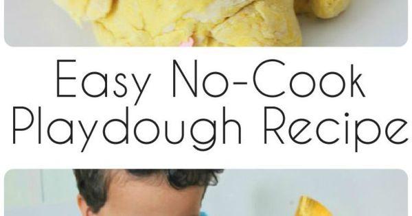 how to make your own playdough no cook