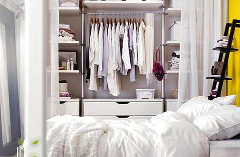 Create a private closet space with curtains msjaystreasures