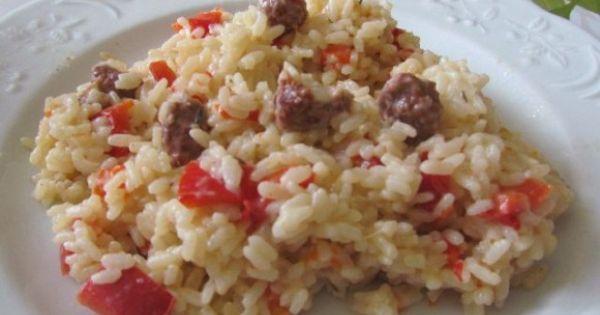 Risotto merguez et poivron thermomix p tes et riz pinterest risotto and thermomix - Machine cuisine thermomix ...