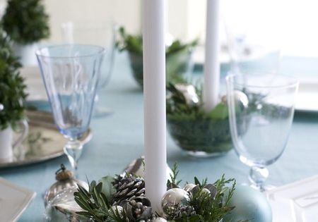 Festive, unique candle holder idea for a holiday table