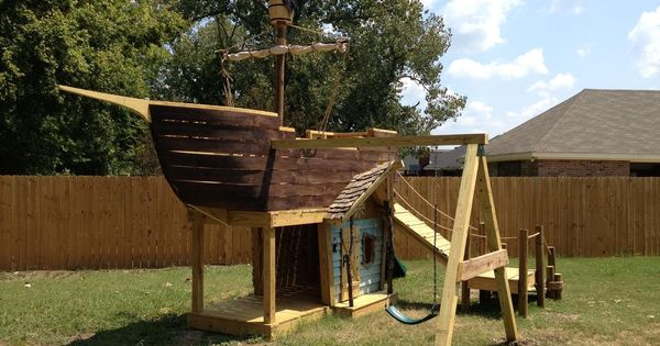 piratenschiff spielplatz selber bauen garten ideen f r kinder pinterest piratenschiff. Black Bedroom Furniture Sets. Home Design Ideas