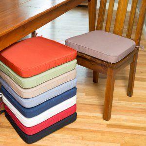 Dining Chair Cushions, Orange Dining Room Chair Cushions