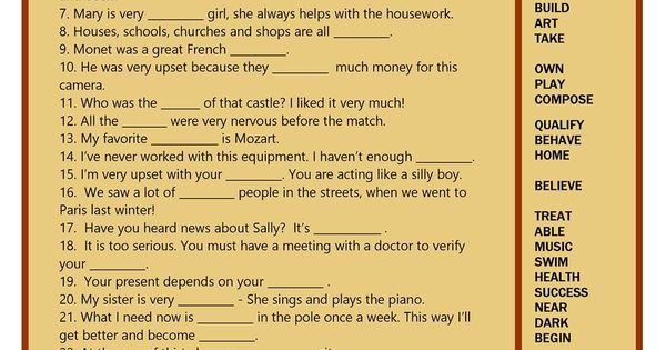 Word Formation : Word formation : Pinterest : Student ...