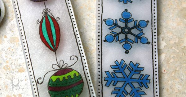 Shrinky Dinks Holiday Bookmark Craft: Looking for a fun and inexpensive holiday