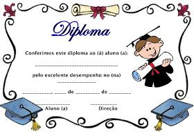 Modelos De Diploma Para A Educacao Infantil Com Imagens