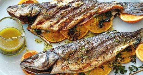 Grilled Whole Mediterranean Fish Recipe By Bobby Flay