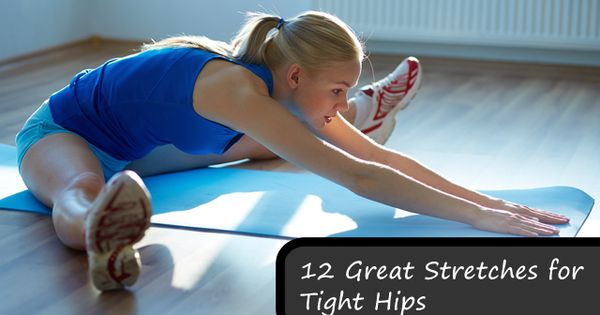 Stretches & exercises for hip flexors - great resource!