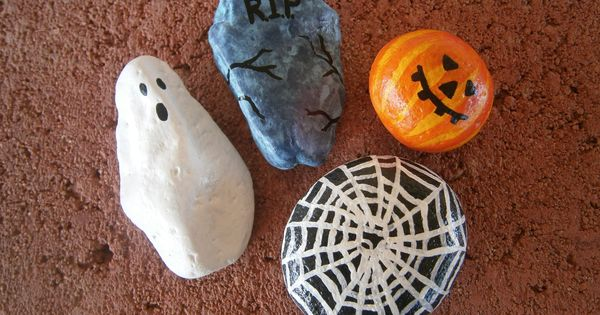Halloween Painted Rocks For Sale At Http Www Etsy Com Shop Placeforyou