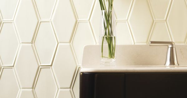 Ann Sacks Frame By Barbara Barry Elongated Hex Raised And