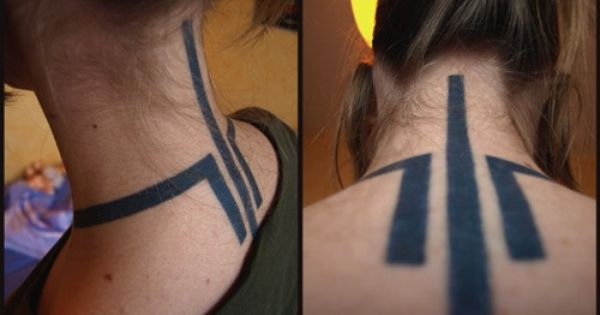 Awesome Neck Tattoo Neck Tattoos Women Neck Tattoo Back Of