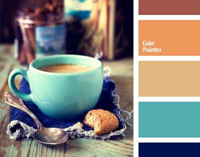 Warm, cozy and fresh color palette. It perfectly combines the opposing carrot,