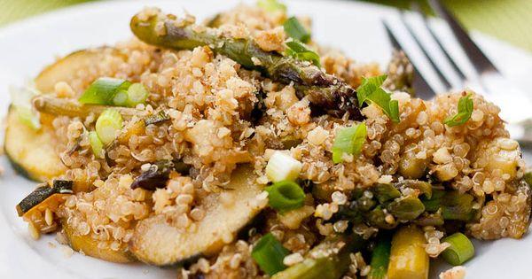 Quinoa with Zucchini and Asparagus | Recipe | Asparagus, Quinoa and ...