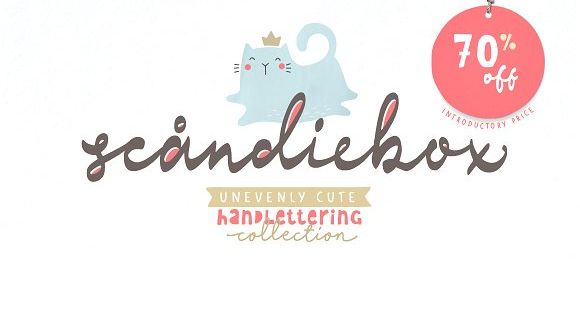 Scandiebox Handlettering Collection – inspired by simplicity of the modern Scandinavian style
