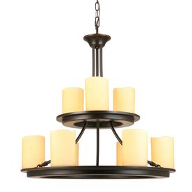 Shop Allen Roth Harpwell 25 In 9 Light Oil Rubbed Bronze